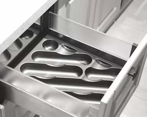 practical silverware drawer organizer ABS plastic customized for housekeeping-7