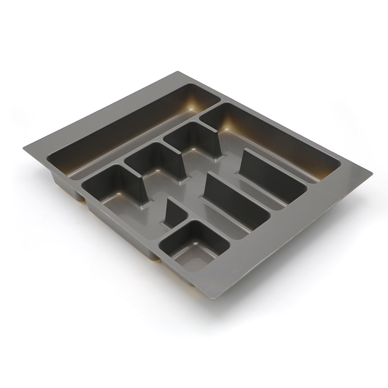 DHP multifunctional plastic cutlery tray customized for cabinets-2