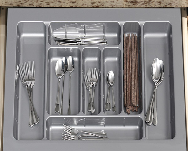 DHP multifunctional plastic cutlery tray customized for cabinets-8