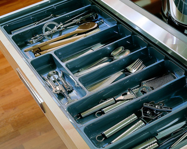 DHP multifunctional plastic cutlery tray customized for cabinets-9