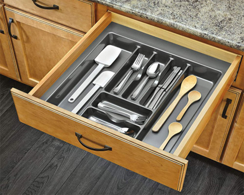 practical silverware drawer organizer smooth surface customized for cabinets-8
