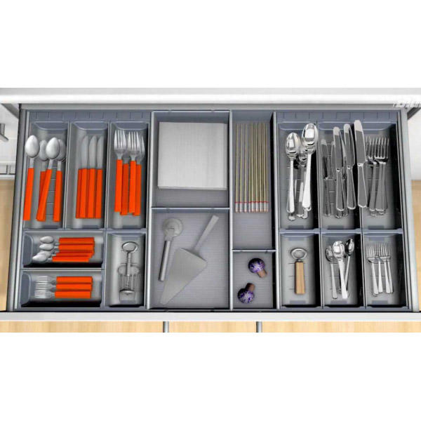 professional cutlery organiser smooth surface customized for cabinets
