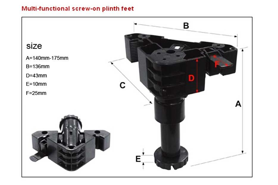 DHP abs material adjustable kitchen legs manufacturer for home