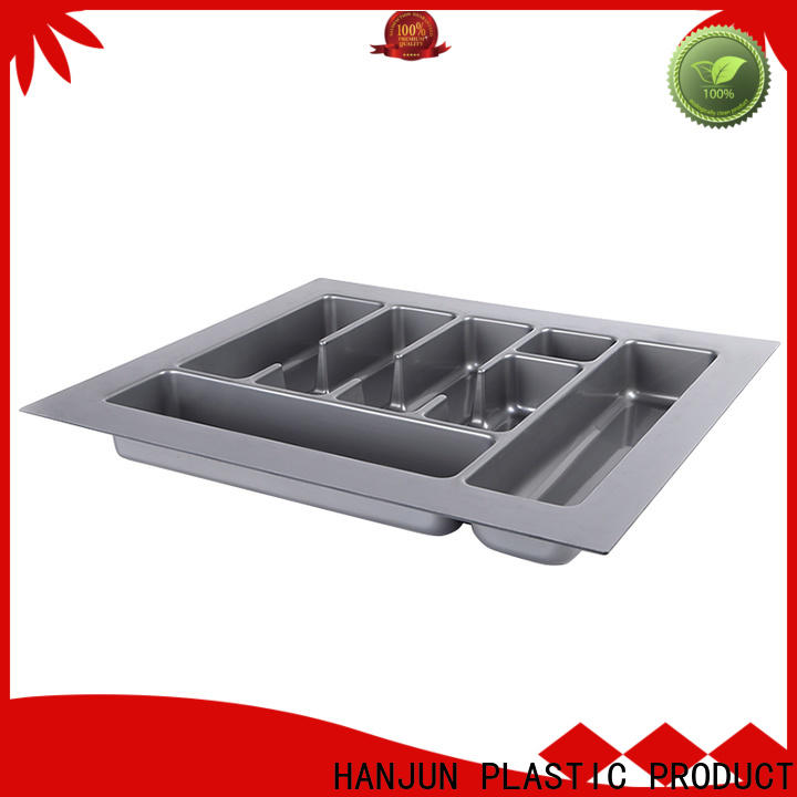 practical plastic cutlery tray drawer type customized for cabinets