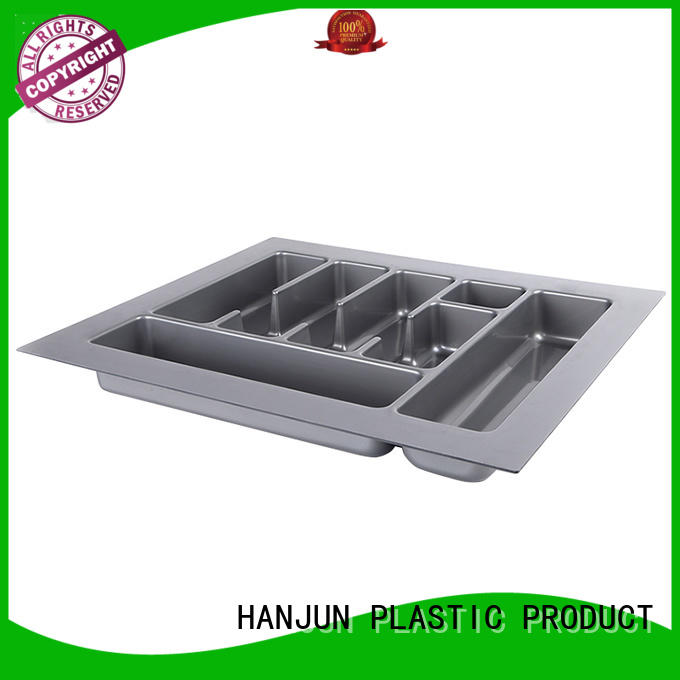 DHP ABS plastic silverware drawer insert customized for cabinets