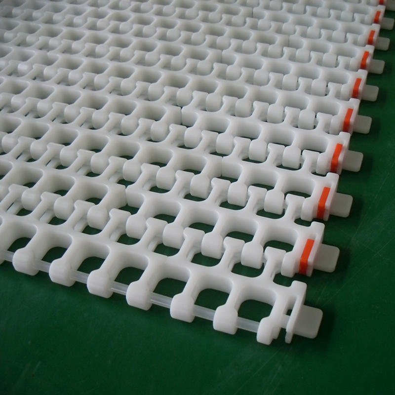 Straight Or Turning Plastic Table Top Chain Plate Conveyor Line H2200