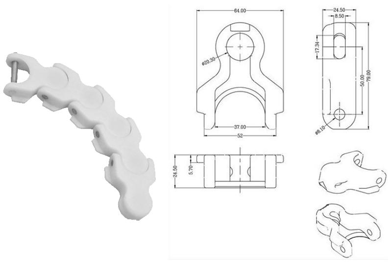 DHP flexible conveyor chain suppliers factory for food conveyor-3