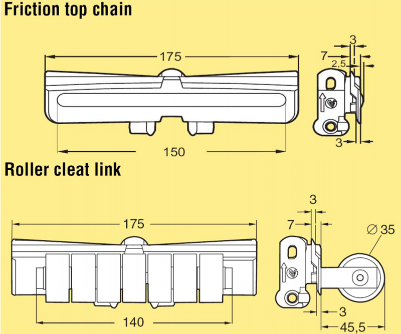 DHP multiangle plastic conveyor chain manufacturers wholesale for boxes conveyor-4
