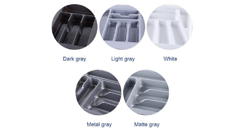 DHP multifunctional plastic cutlery tray customized for cabinets