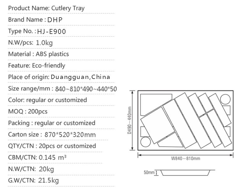 multifunctional cutlery organizer ABS plastic design for tableware-2