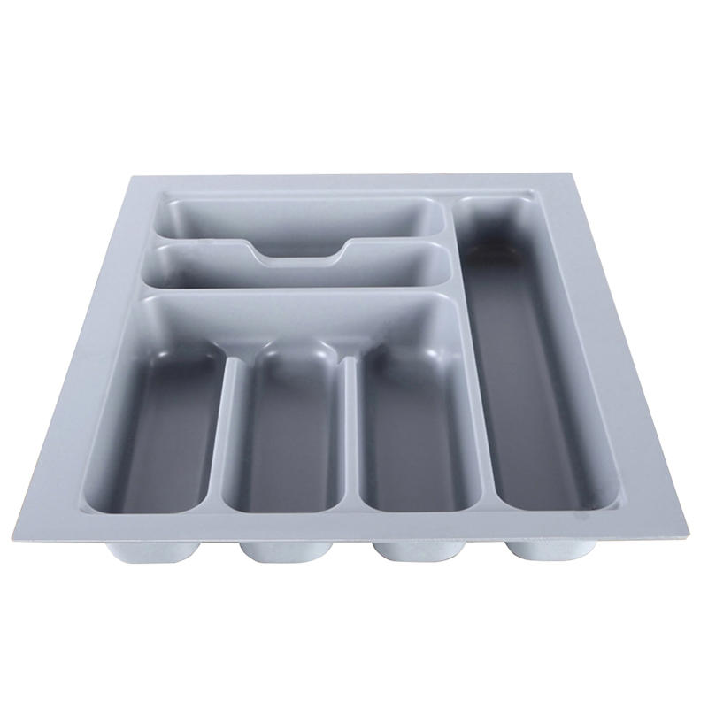 Eco-friendly Durable Plastic Cutlery Tray For Knife And Fork Storage Organizer For Kitchen Cabinet HJ-K450