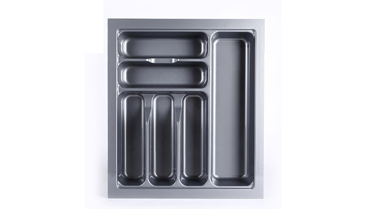DHP ABS plastic silverware drawer organizer design for cabinets-3