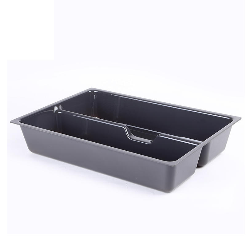 ABS Plastic Vacuum Formed Housekeeping Organizer Cutlery Tray In Kitchen Cabinet