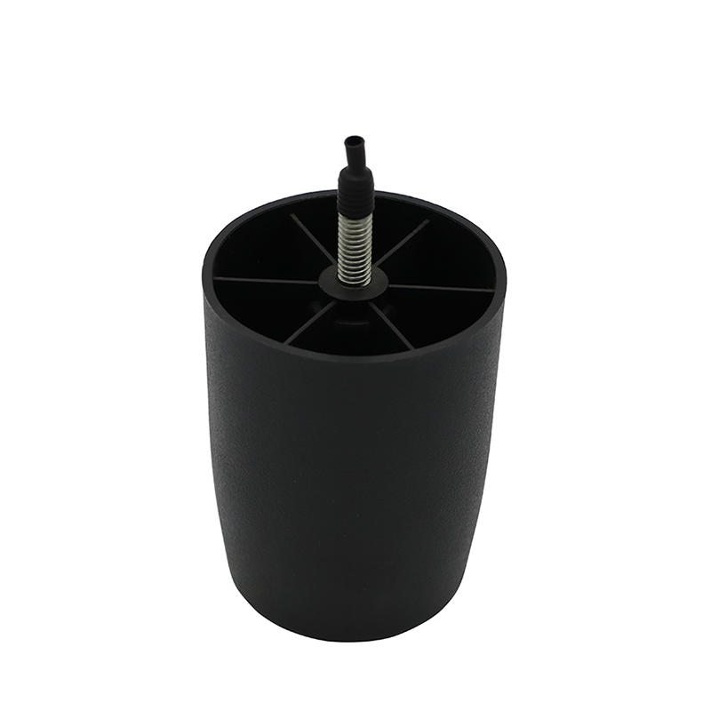Black sanded round Cabinet Adjustable feet Plastic sofa Leg