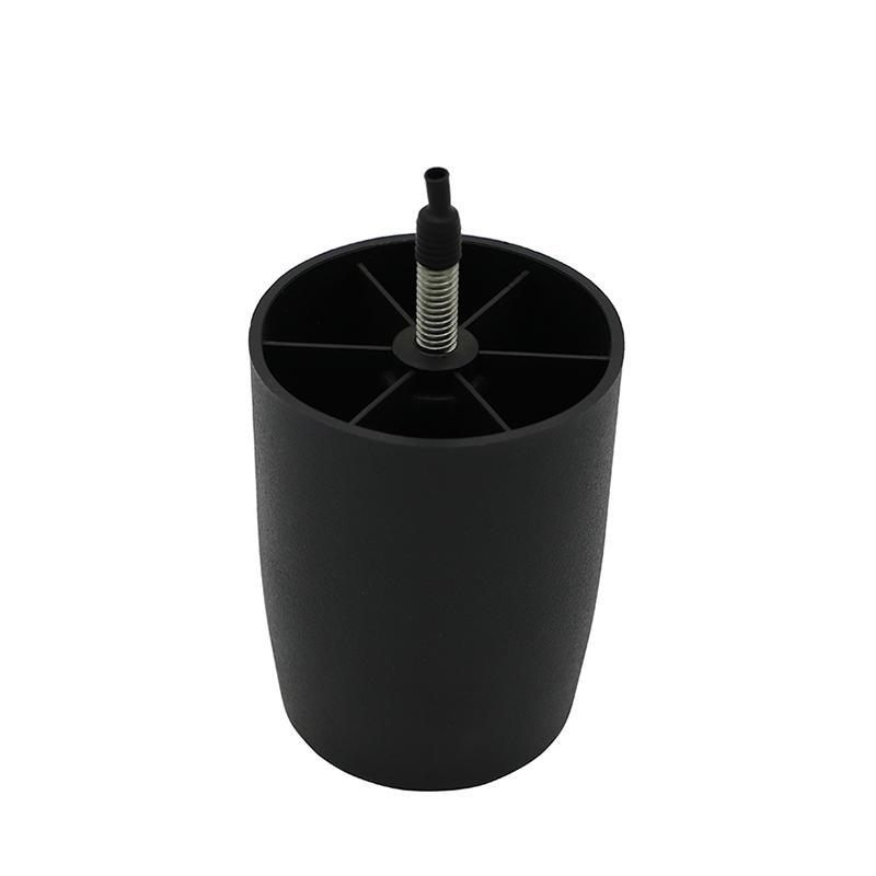 Black sanded round Cabinet Adjustable feet Plastic sofa Leg