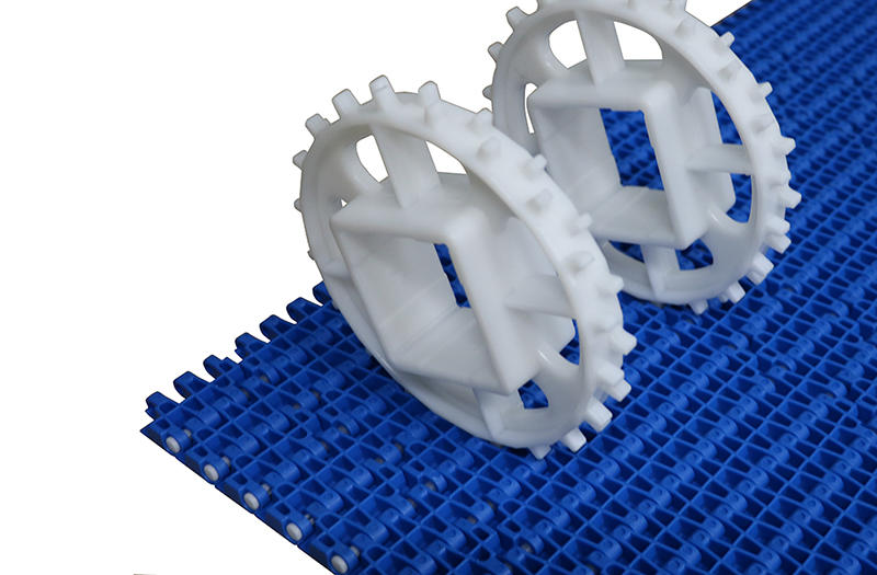Food Grade Curved Flush Grid Modular Conveyor Belt  H2520
