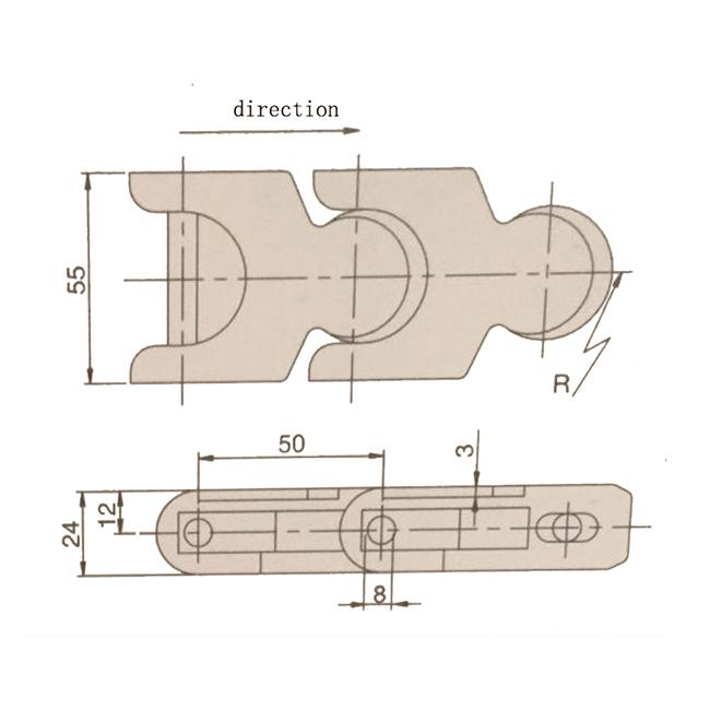 DHP modular plastic conveyor chain wholesale for conveyor machinery-3
