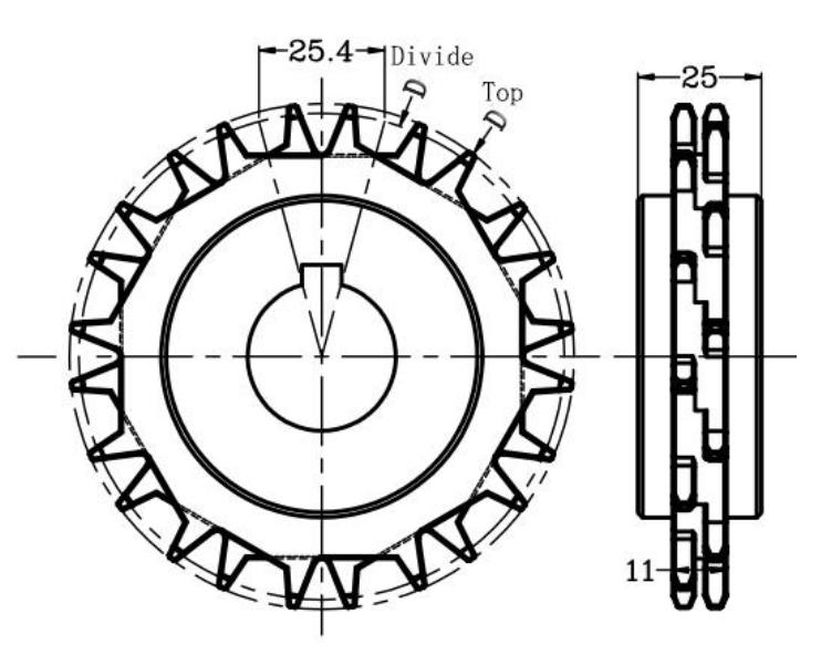 DHP antiskid plastic conveyor parts design for conveyor machine-3