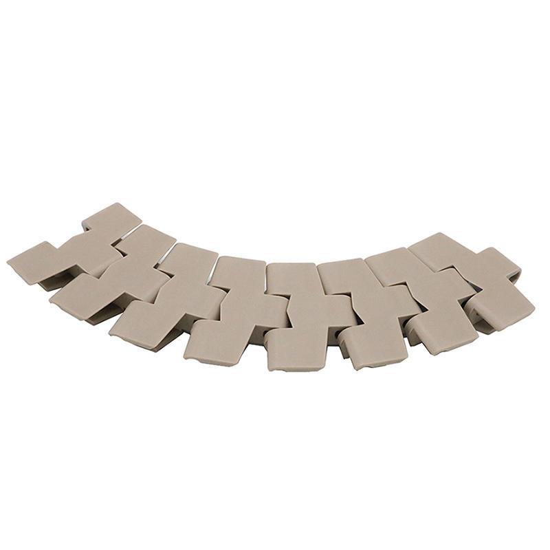 Flush Grid Straight Running Plastic Conveyor Modular Belt