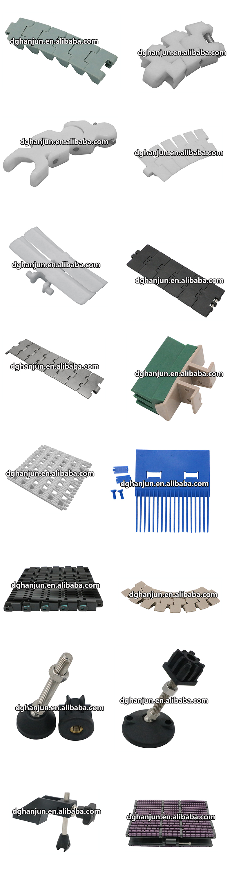 DHP antiskid plastic conveyor parts wholesale for heavy load transportation-6