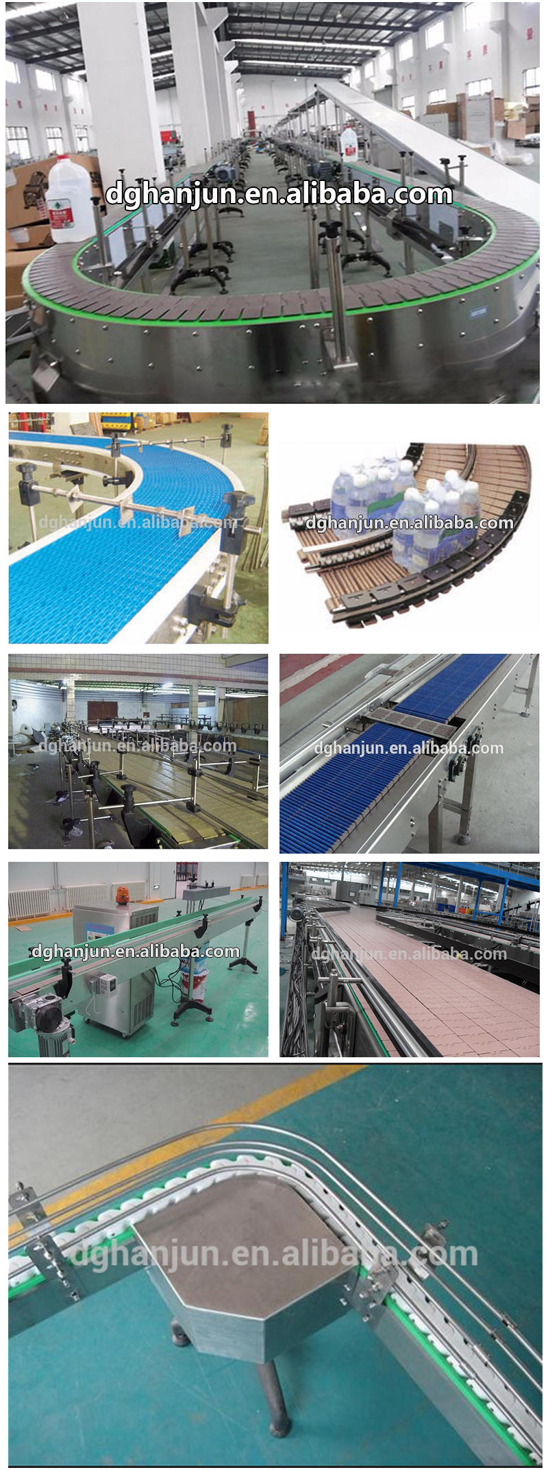 DHP antiskid plastic conveyor parts wholesale for heavy load transportation
