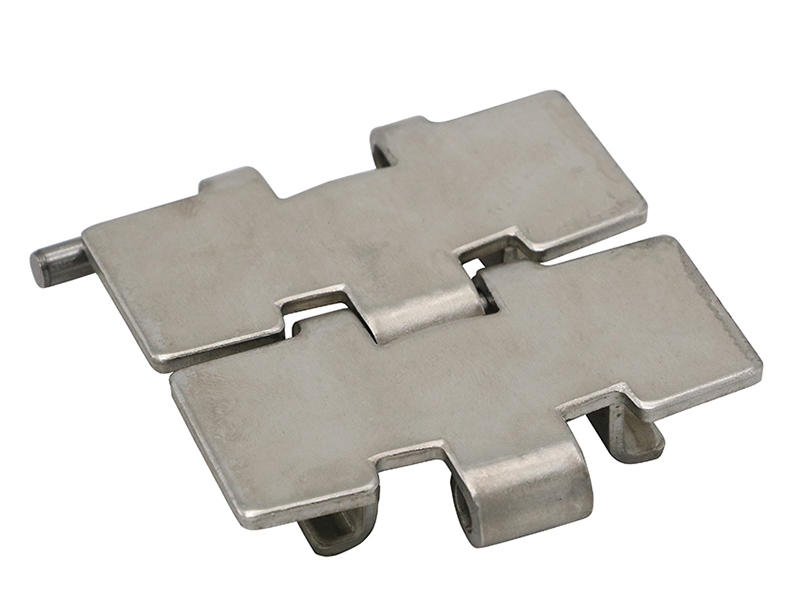 H8810 TAB Winged Stainless Steel Flat top Sideflexing chains