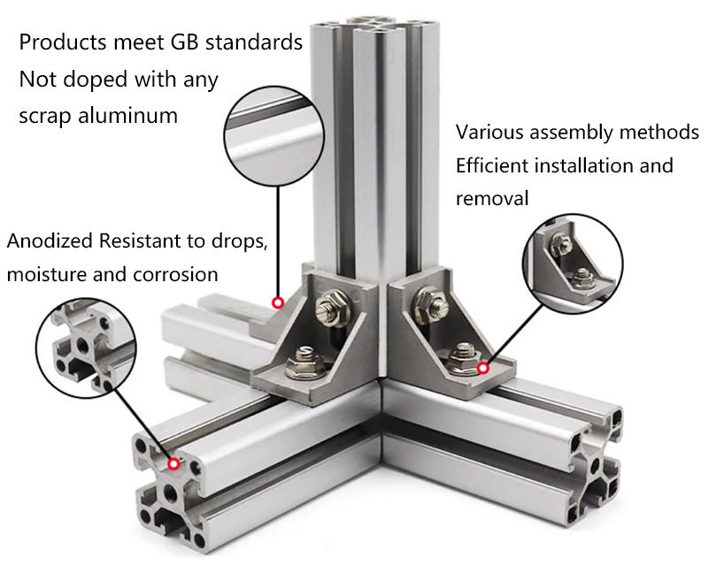 Aluminum Profile with Accessories connectors and Etc