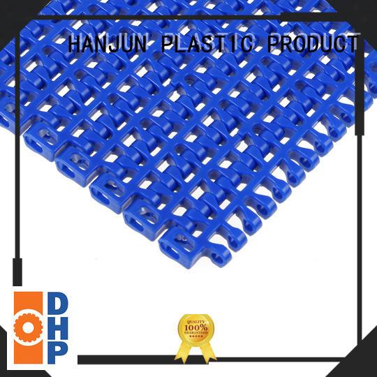 straight running conveyor belt suppliers manufacturer for PET bottle conveyor DHP