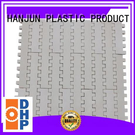 pom material modular conveyor belt customized for conveyor machinery DHP