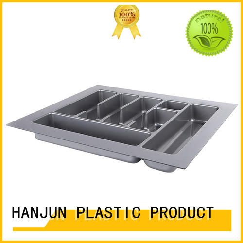DHP multicolor plastic cutlery tray customized for tableware
