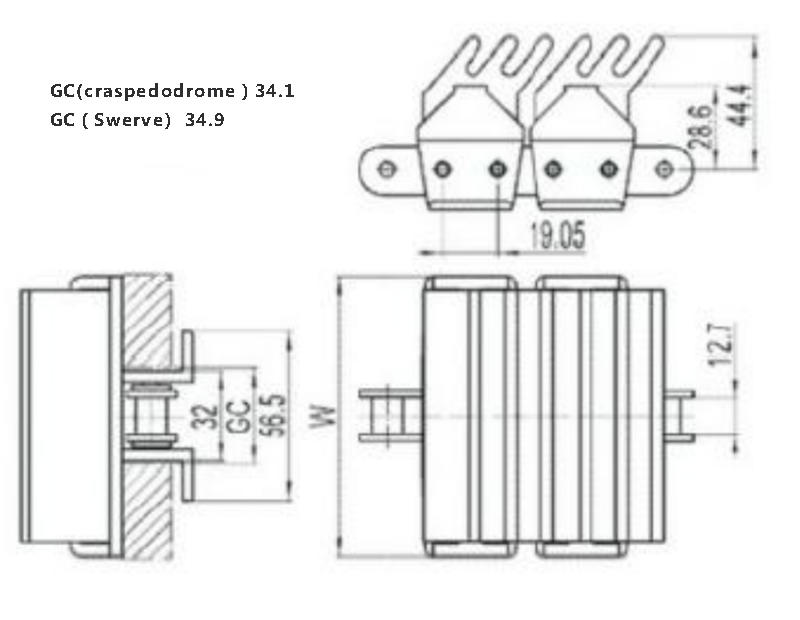 antiskid gravity conveyor parts plastic customized for drag chain-3