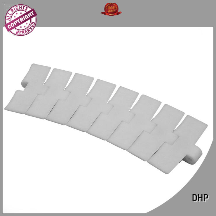 DHP low noise plastic conveyor chain manufacturers series for boxes conveyor